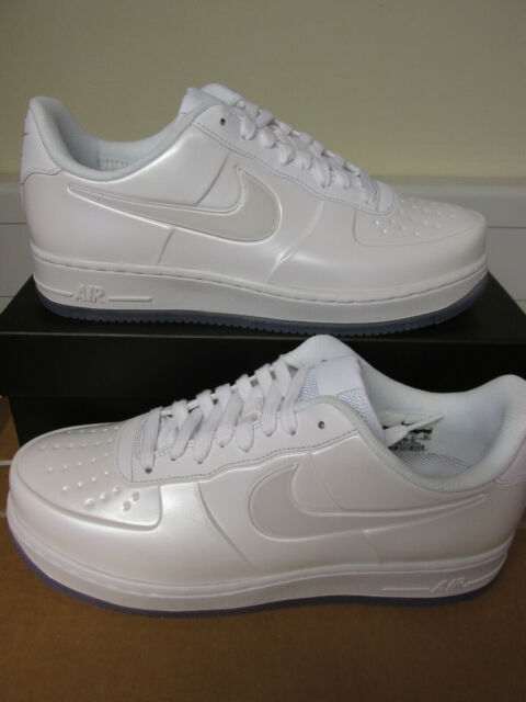 new arrivals 6c204 65d7d Nike Air Force One Af1 Foamposite Pro Cup Triple White Aj3664-100 Size 8