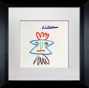 "Pablo PICASSO Lithograph Limited Ed. SIGNED ""...por Helena"" w/FRAME"