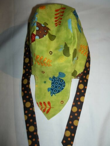 "/""BABY//TODDLER DOORAG/"" Keep their Heads Protected:/""TURTLES BIRD,GREEN,BROWN/"""