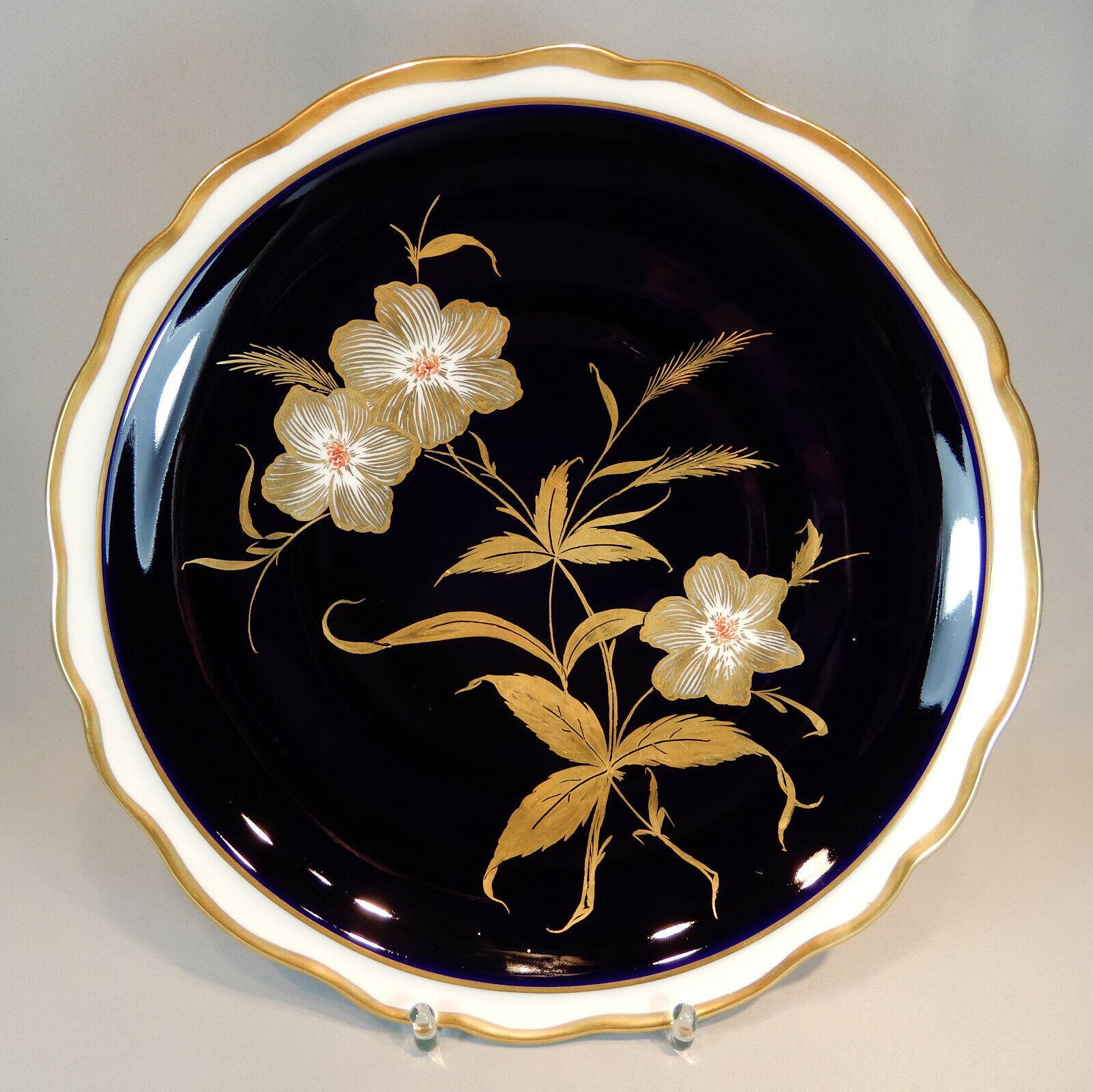 Weimar apparat Assiette Assiettes or Cobalt Blanc Corail baroque 35 cm nordt peinture
