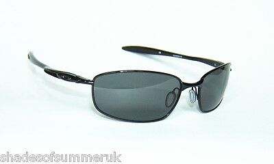 OAKLEY BLENDER POLISHED BLACK GREY POLARIZED SUNGLASSES 4059-03