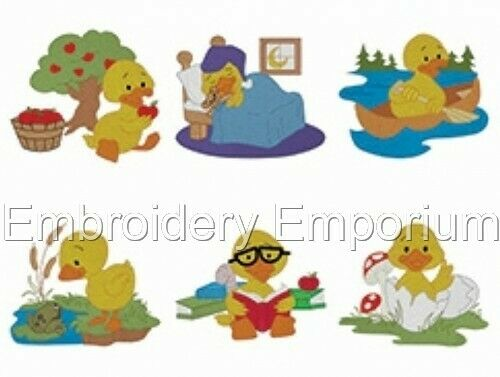 DARLING DUCKS COLLECTION MACHINE EMBROIDERY DESIGNS ON CD OR USB