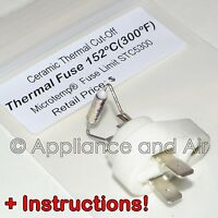 Microtemp Thermal Fuse Limit 152c 300f Cutoff Switch - Fast Ship + Instructions