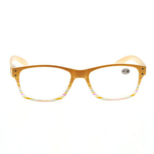 9531422a7c4 Image is loading New-Spring-Hinge-Eyeglasses-Frame-Reading-Glasses-Yellow-