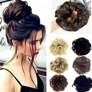 Synthetic Elasticated Hair Scrunchie Messy Bun Wrap Hairpiece Curly