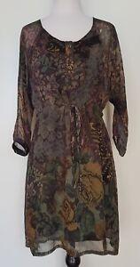 JAVIER-SIMORRA-Floral-Tapestry-Print-Dress-Tunic-Size-8