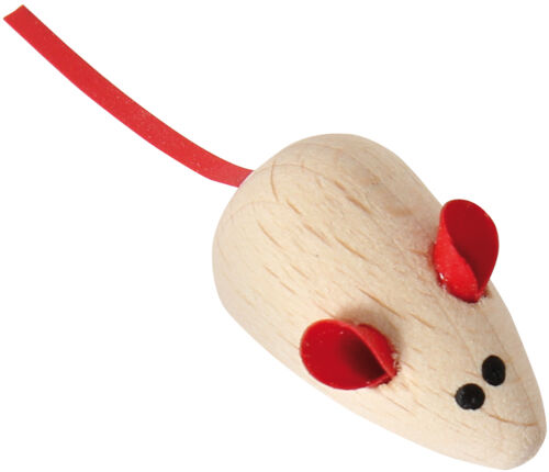 Magnet Maus aus Holz kw.