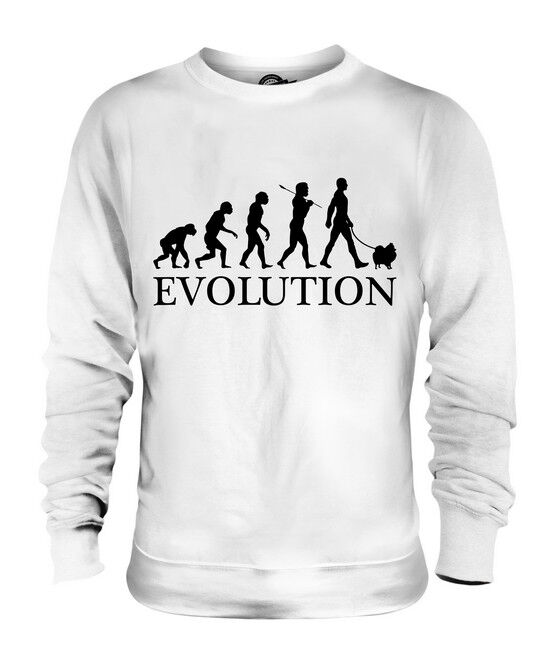 POMERANIAN EVOLUTION OF MAN UNISEX SWEATER  Herren Damenschuhe LADIES DOG LOVER GIFT