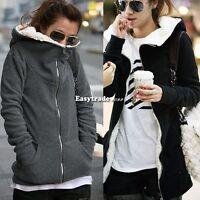 Fashion women Zip Up Outerwear Hoodie Sweatshirt Coat Jacket Long Sleeve Tops