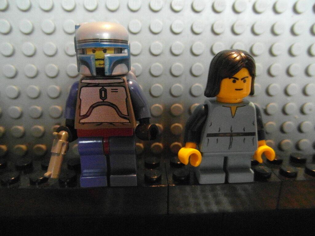 LEGO Star Wars Figur Kopfgeldjäger Jango Fett + Boba Fett aus 7153 Original Lego