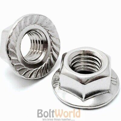 Openhartig M10 /10mm Stainless Steel A2 Hexagon Serrated Flange Nuts Nut For Bolts Din 6923 Keuze Materialen