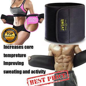 Waist Trimmer Belt Sweat Wrap Tummy Stomach Weight Loss Fat Burner Slimming Belt
