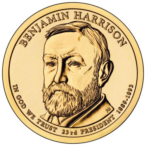 2012 President Benjamin Harrison Dollar 2 Coin Set Philadelphia Denver