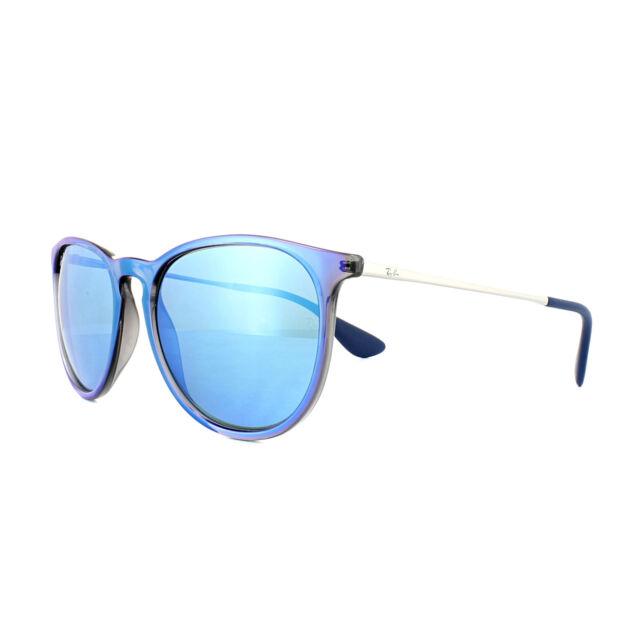 Sunglasses Ray-Ban Erika Rb4171 6318 55 54 Mirror Flash Blue   eBay 922d5c9381