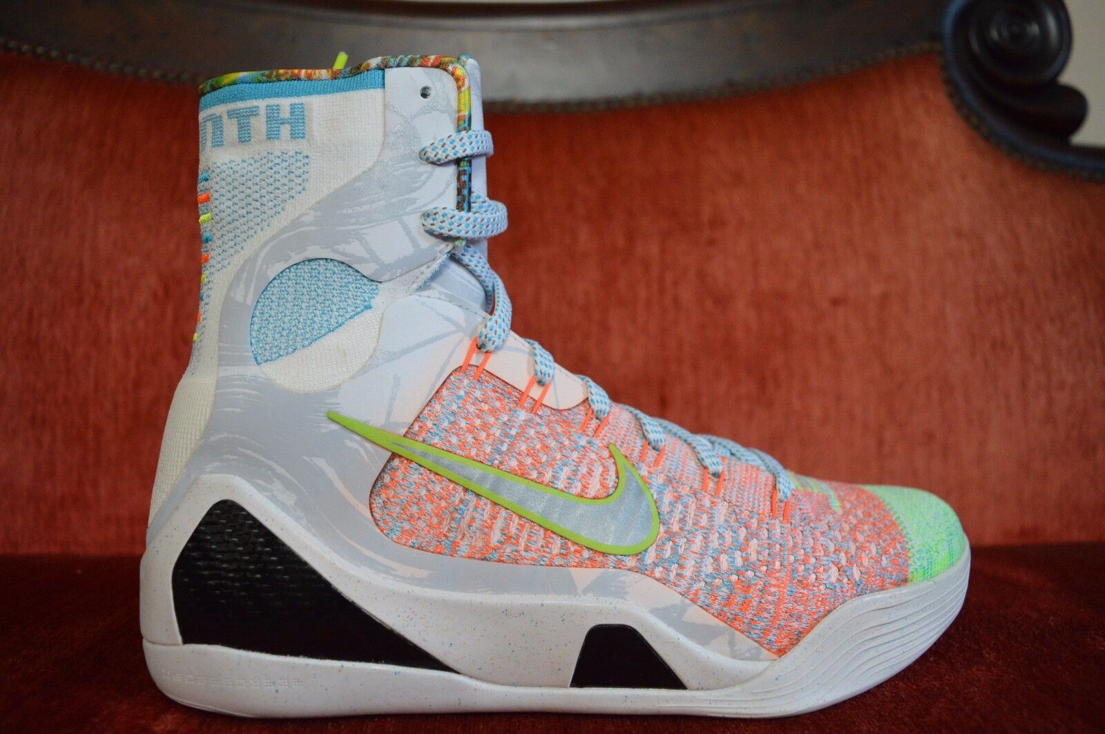 Nike Kobe IX 9 Elite Premium 'WHAT THE' 678301-904 Flyknit Chlorine bluee Jordan