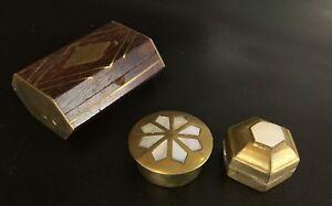Lot-3-Boite-Pilules-Bijoux-Vintage-en-bois-laiton-et-Incrustations-de-Nacre