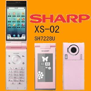 Sharp-SH7228U-XS-02-Pink-8MP-WiFi-DualScreen-Unlocked-3G-Android-Flip-Smartphone