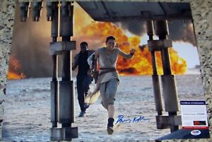 Daisy Ridley Star Wars Rey FULL NAME Signed 16x20 Photo PSA IN THE PRESENCE COA!