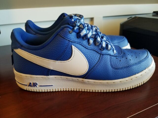 new product 328b3 0bcd1 Nike Air Force 1 07 Lv8 NBA Logo Statement Game Blue Men Af1 Shoes ...