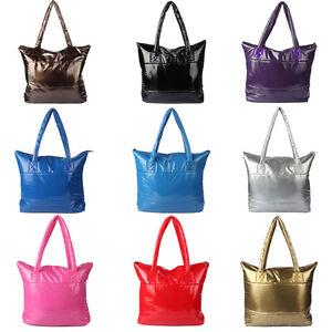 Hot-Women-039-s-Shoulder-Bag-Space-Bale-Cotton-Totes-Handbag-Feather-Down-Stylish