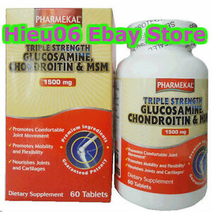 60-tablets-Glucosamine-1500-mg-Chondroitin-MSM-Triple-Strength-joint-care-USA