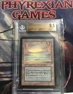 MTG-BETA-UNDERGROUND-SEA-BGS-9-5-gem-mint-magic-vintage-dual-land-rare-card