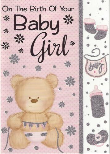 New Birth Baby Girl Congratulations Card Various Designs Quality FREE UK POST