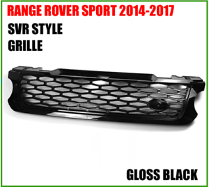Land Rover Range Rover Sport 2014-2017 Front Grille SVR Style Gloss Black New
