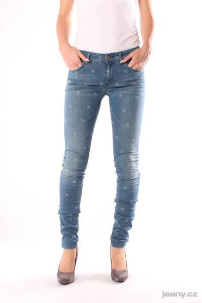 100% Verdadero Nuevo Vaqueros Señora Replay Wx689 535 395 010 Lucecita, Pantalones, Trousers, Denim, Skinny-ver