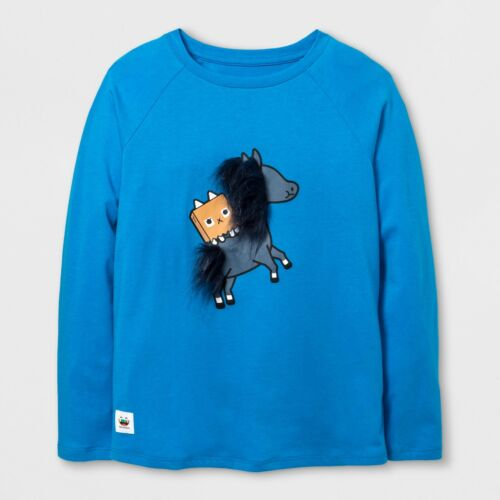 Girls/' Toca Boca Horse Graphic Long Sleeve T-Shirt Blue