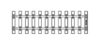 PIKO G SCALE SB280 TIE STRIP 280MM (25 PIECES)   BN   35231