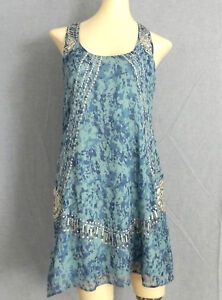 3477fe4d96 Image is loading Guess-by-Marciano-Dress-100-Silk-Embellishments-Multi-