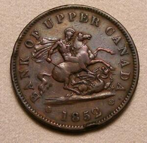 1852 Bank Of Upper Canada One Penny Token!!  BR-719!!
