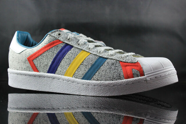 detailed look a5f59 01c59 ADIDAS SUPERSTAR WHITE MOUNTAINEERING AQ0352 GREY WHITE SIZE: 9.5