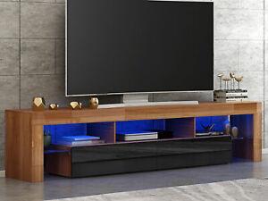 Modern Smart Tv Unit Stand Cabinet 200cm High Gloss Front Matt Living Room Uk Ebay