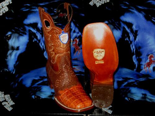 Crocodile Belly Genuine Cognac 728203 Wild Western Boot Square Cowboy West Rodeo uTKc3lFJ51