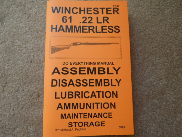 winchester model 63 in 22 rifle manual 87 pages ebay Winchester Model 61 History winchester model 61 hammerless in 22 lr rifle manual 95 pages