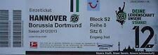 TICKET 2012/13 Hannover 96 - Borussia Dortmund