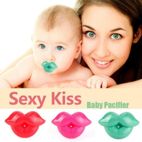Unique Baby Toddler Infant Pacifier Kiss Dummy Lip Nipple Soother Silicone^
