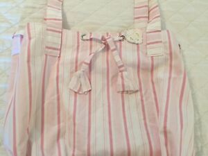 Rachel-Ashwell-Shabby-Chic-Brolly-Stripe-Pink-White-Beach-Bag-Backpack-tote