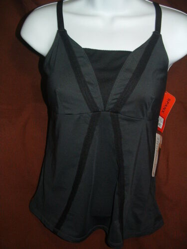 NEW SPANX LOOK GREAT IT/'S A CINCH 1215 BLACK TOP-NOTCH CAMISOLE SIZE S