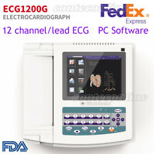 Fda Ecg1200g Machine Ekgecg Monitor Portable Lcd Electrocardiographprinter