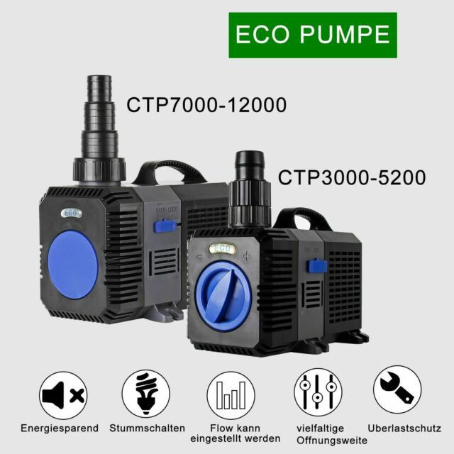 12V Wasserpumpe 8W 780l//h Teichpumpe Gartenteichpumpe Wasser Pumpe Tauchpumpe