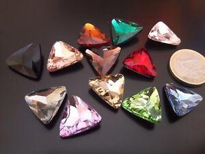 1aef5f26e6e3 De 3 a 45 Cristales colores TRIANGULO M 18x18 (CRIS-02) abalorios ...
