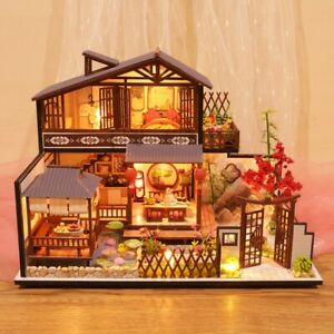 3D-Wooden-Dollhouse-Ancient-Town-DIY-Miniature-Model-Christmas-Gifts-Toys