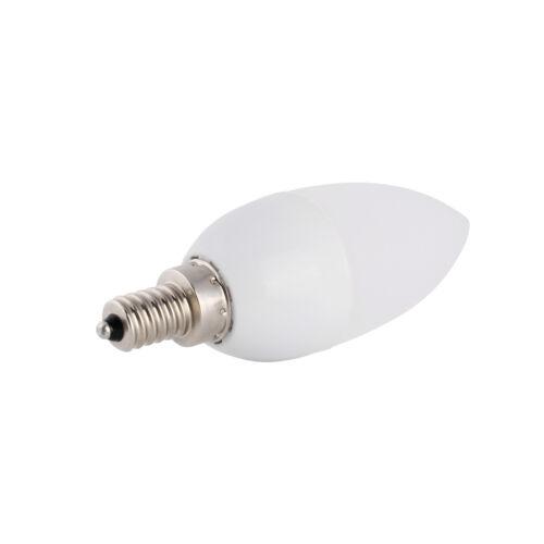 3W E12 E26 E27 E14 B22 LED Chandelier Candle Flame Light Bulb Lamp 2835SMD White
