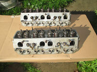 BRODIX SBC CHEVY 10 S/P ALUMINUM CYLINDER HEADS With Fuel Injection Ports Racing