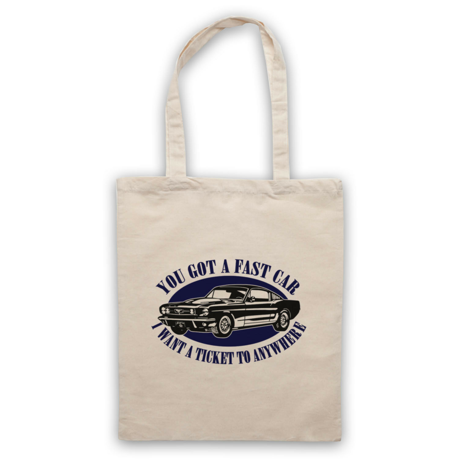 TRACY CHAPMAN FAST CAR UNOFFICIAL TICKET TO ANYWHERE TOTE BAG LIFE SHOPPER