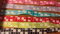 6 x 28cm 15mm Mixed Grosgrain Bubble Ribbon Cardmaking Scrapbooking