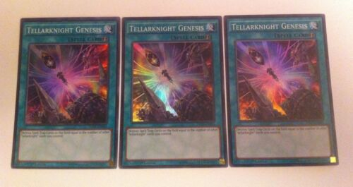 1ST EDITION NEW SUPER RARE TELLARKNIGHT GENESIS 3 x INOV-EN062 YuGiOh Card